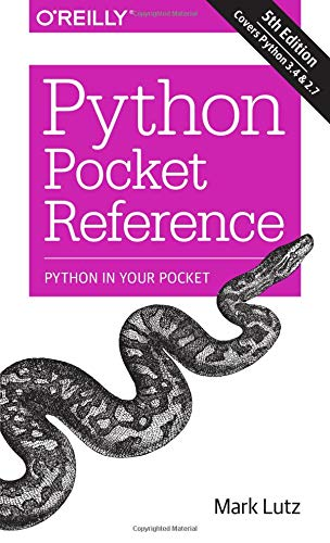 Book cover of Python Pocket Reference by Mark Lutz
