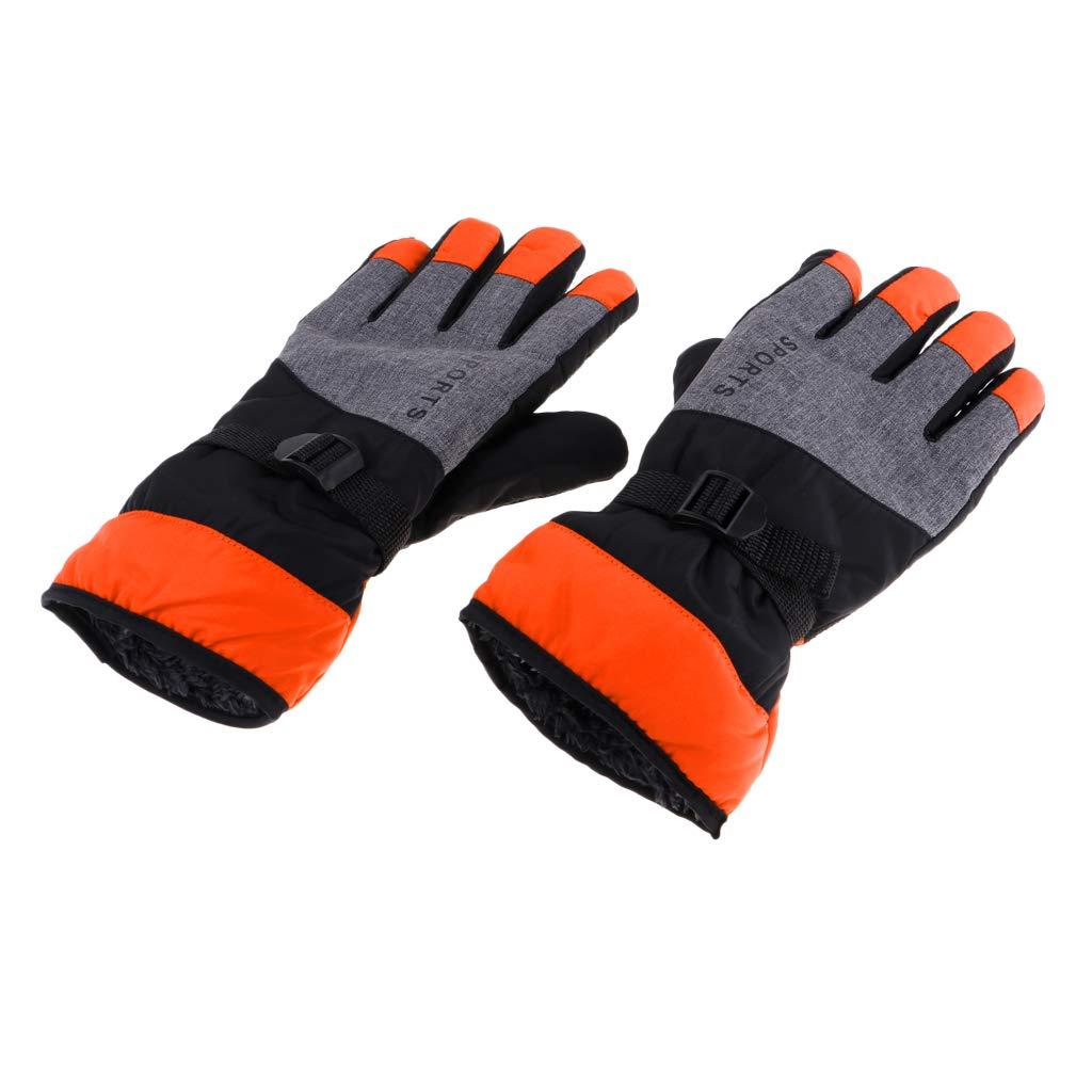 kesoto Men Waterproof Warm Winter Glove Snowboard Ski Mittens Thermal Insulation Snowboarding Cold Weather Gloves