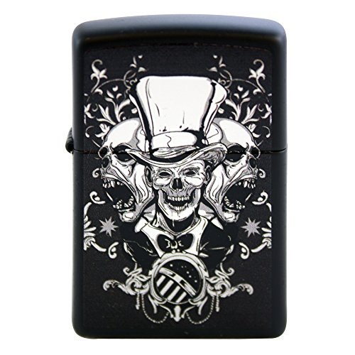 Zippo Custom Design Lighter Mad Hatter Joker Skulls Windproof Collectible. Made in USA Limited Edition & Rare