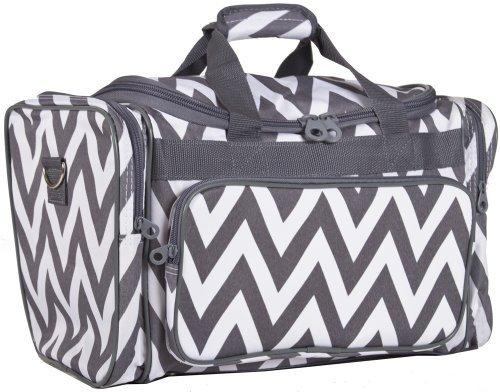 Ever Moda Grey Chevron Duffle Bag 19-inch (Cheap Designer Bags)