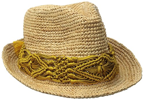 physician-endorsed-womens-malia-crochet-raffia-hat-with-macrame-trim-mustard-one-size