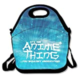 ZMvise It's An Anime Thing You Wouldn't Understand Lunch Tote Insulated Reusable Picnic Lunch Bags Boxes Men Women Kids Toddler Nurses Travel Bag