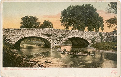 (Historic Pictoric Postcard Print | Brush Street Bridge, Kansas City, Mo, 1898 | Vintage Fine)