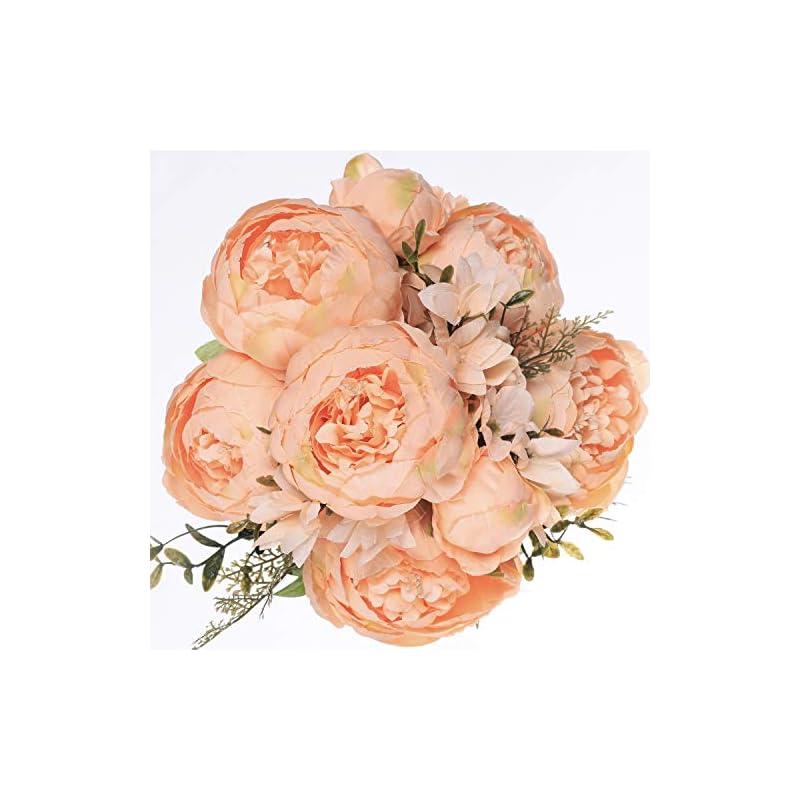 silk flower arrangements luyue vintage artificial peony silk flowers bouquet home wedding decoration (champange)