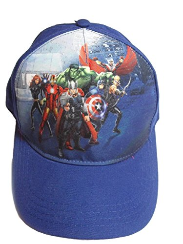 Marvels Avengers Baseball Cap Hat - Iron Man, Hulk, Captain America, (Tween Captain America Costumes)