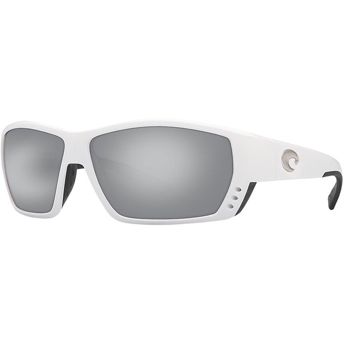 Costa Tuna Alley Polarized 580G Sunglasses White/Silver Mirror, One Size