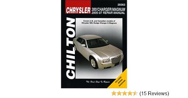 chrysler 300 charger magnum 2005 2007 chilton s total car care rh amazon com 2011 Dodge Magnum Battery 2005 Dodge Magnum Owner's Manual