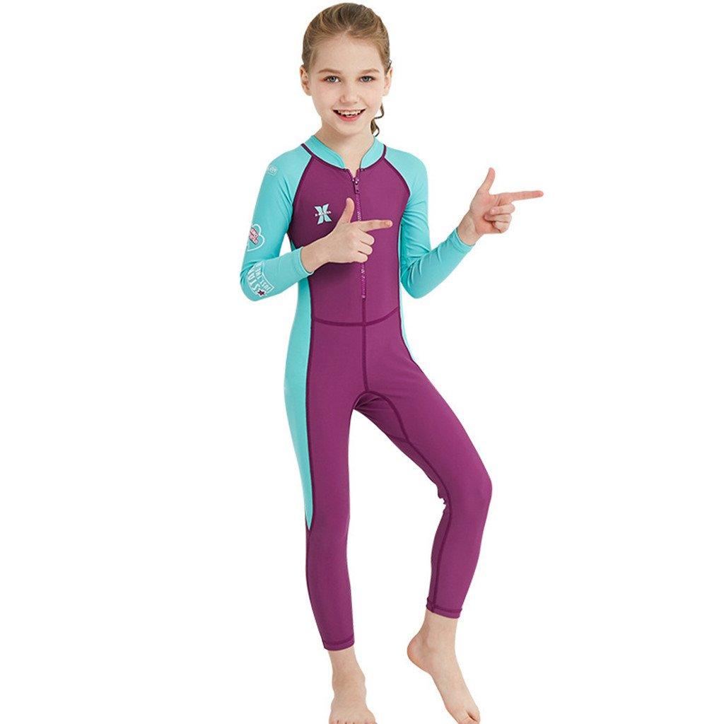 Boy Girl Wetsuit Swimsuit Kids Swimwear Long Sleeve Diving Suit UV 50+ Rashguard Hongying Trading Co. LTD