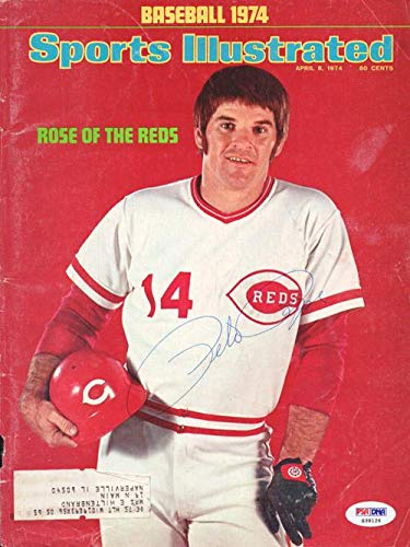 Pete Rose Autographed Sports Illustrated Magazine Cover Cincinnati Reds #S39126 - PSA/DNA Certified - Autographed MLB Magazines