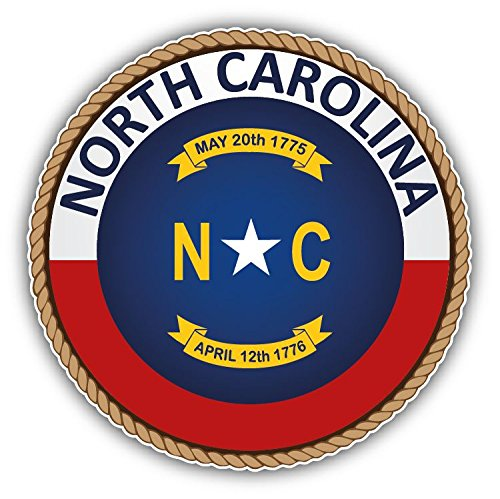North Carolina USA State Seal Home Decal Vinyl Sticker 5'' X (North Carolina State Seal)