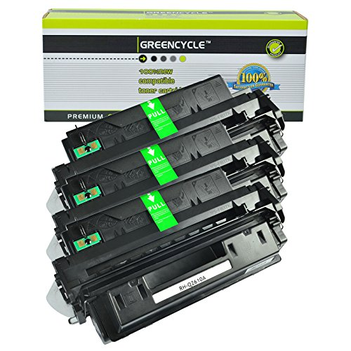 GREENCYCLE Toner Cartridge Replacement For HP Q2610A 10A High Yield 6,000 Pages Compatible For HP LaserJet 2300 2300d 2300dn 2300dtn 2300L 2300n (3 Black) 2300 Series 6000 Page Yield
