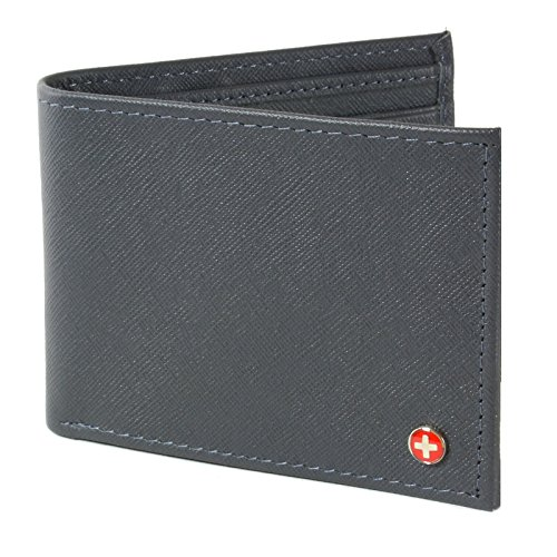 Alpine Swiss Men's Genuine Leather Wallet Slim Flip-out - Alpine Wallet