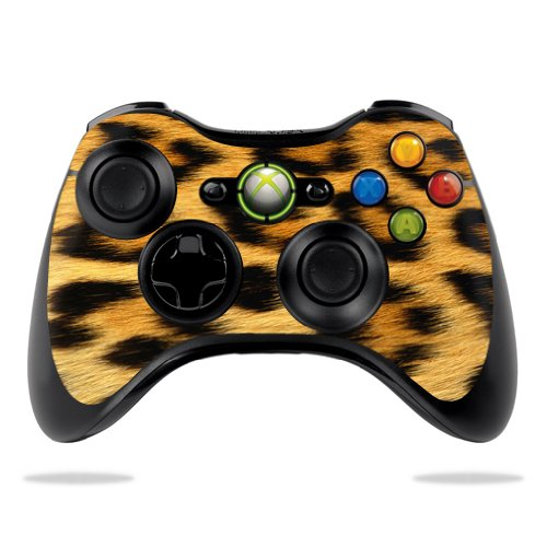 Protective Vinyl Skin Decal Cover for Microsoft Xbox 360 Controller wrap sticker skins Cheetah