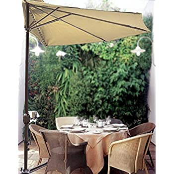 Delicieux STRONG CAMEL 10u0027 Patio Half Umbrella Wall Balcony Sun Shade Garden Outdoor  Parasol BEIGE