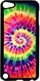 ipod 5 case tie dye - Bright Tie-Dye- Case for the Apple Ipod 5th Generation-Hard Black Plastic