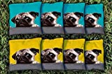 Victory Tailgate Pug Love Replacement Cornhole Bag Set (All-Weather)
