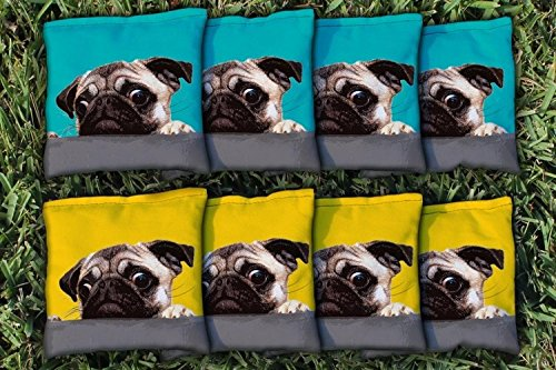 Victory Tailgate Pug Love Replacement Cornhole Bag Set (All-Weather) by Victory Tailgate