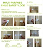 Multipurpose Child Safety Lock 8 Pack With 3m Adhesive