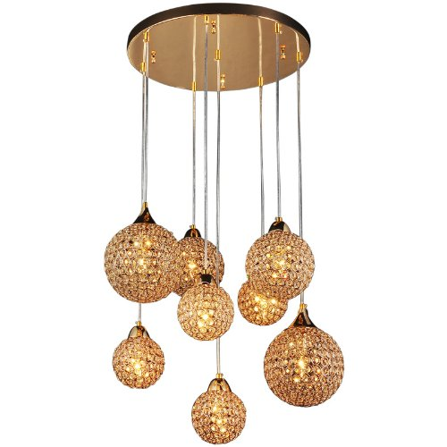 8 Kopfe 55 9 Cm Bar Zahler Gold Deckenleuchte Hangelampe Wohnzimmer