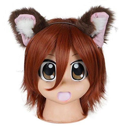 [Fancy Party Halloween Lolita Mixed Color Anime Cosplay Ears Fur Pair Cat Ear Headband] (Cat Makeup Halloween)