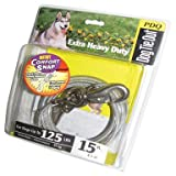 Boss Pet Q5715 SPG 99 15' Extra Large Dog PDQ Tie-Out With Spring