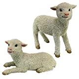 Design Toscano QM921057 Ramses and Aries Lamb Statues (Set of 2) For Sale