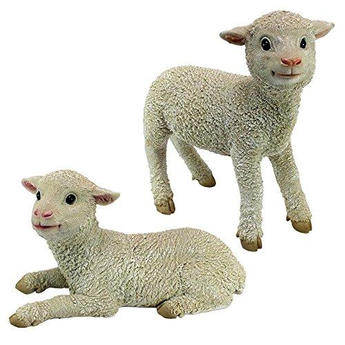 Design Toscano QM921057 Ramses and Aries Lamb Statues (Set of 2) -