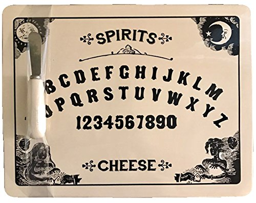 Magenta Large Ceramic Ouija Cheese Board Platter With Matching Spreader (Ceramic Plates Halloween)