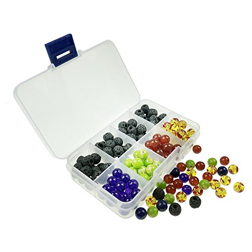 8mm 160pcs beads packed in box to DIY Jewelry Bracelet Necklace including lava/Turquoise/Purple/Rsin amber beads
