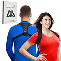 Back Posture Corrector Clavicle Support Brace for Women & Men by Potou, Figure 8 Shaped Designed for Your UpperBack, Helps to Improve Posture, Prevent Slouching and Upper Back Pain Relief