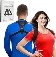 Back Posture Corrector Clavicle Support Brace for Women & Men by Potou, Figure 8 Shaped Designed for Your Upper Back...