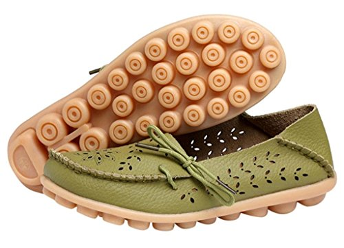 Bateau Causales Vertes Chaussures Bon Mocassins Augure Appartements De Début De Pour Femmes Évider Mocassins Des Les Uq4PZnf8w