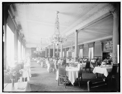 HistoricalFindings Photo: Main dining room,interiors,chairs,tables,Murray Hill Hotel, - Dining Murray Hill