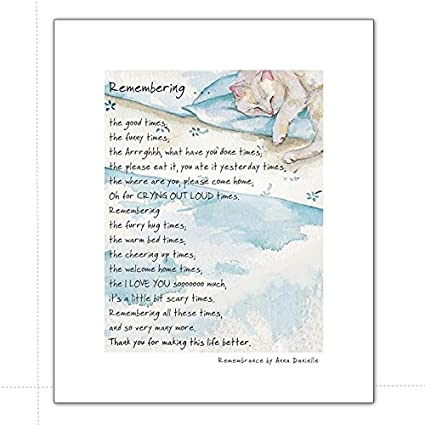 Amazon com: Digs & Manor Remembrance Cat Mounted Print