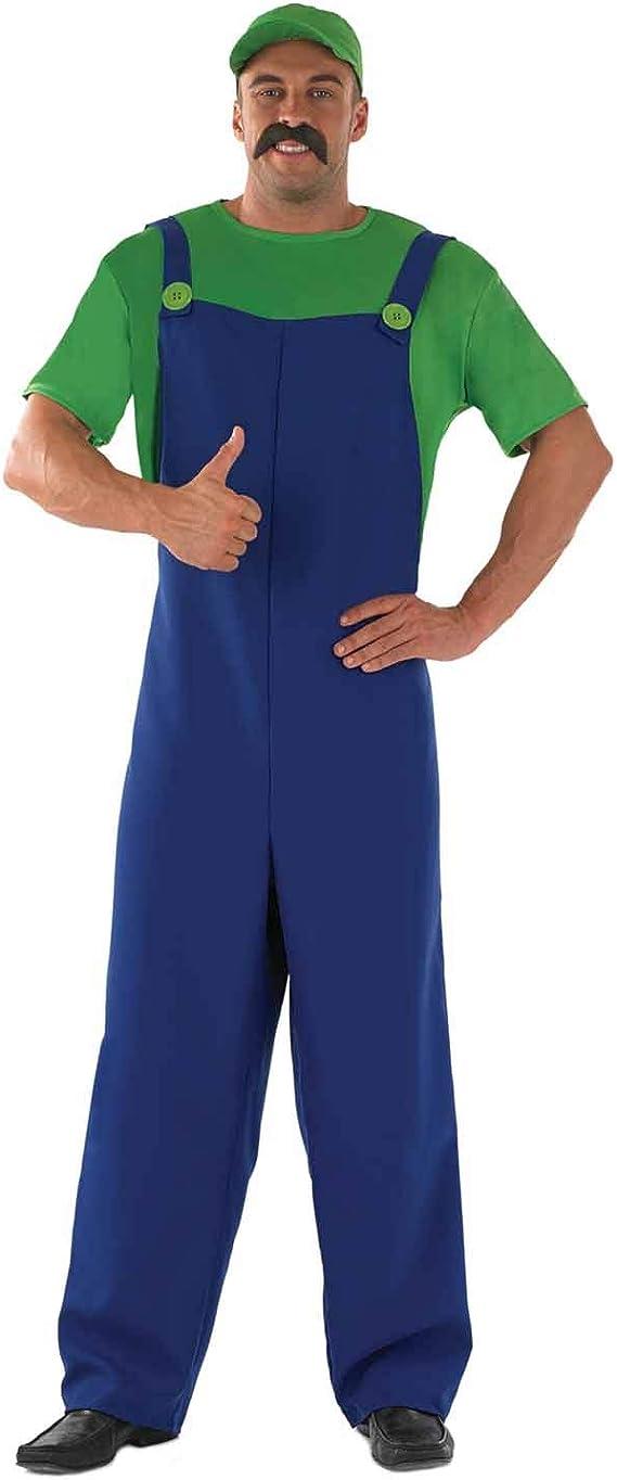 Fun Shack Verde Luigi Disfraz para Hombres: Amazon.es: Juguetes y ...