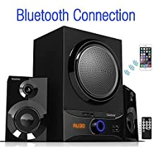 Boytone BT-209FB Wireless Bluetooth Stereo Audio Speaker with Powerful Sound, Bass System, Excellent Clear Sound & FM Radio, Remote Control, Aux-In Port, USB/SD/for Phone's, Laptops, Black, 30 W