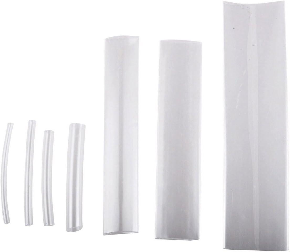 Heat Shrink Tubing Kit, Conwork Assorted 2:1 Heat Shrinking Tube Wire Wrap Cable Sleeve Set (117Pcs, 7 Size) -Transparent