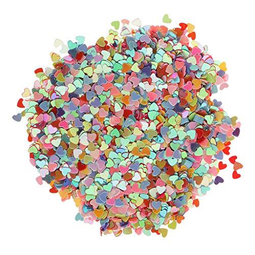 BROSCO Rainbow Heart Table Confetti Scatter Wedding Birthday Hen Night Party Decor