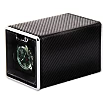 Rotations Carbon Fiber Cloth Covered Metal Single Watch Winder