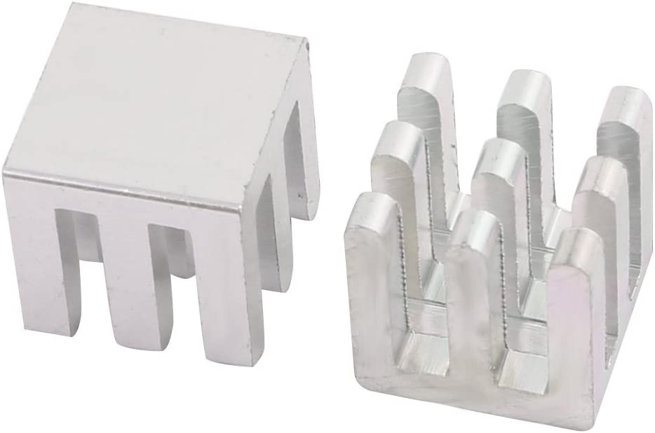 NA 30Pcs 10mm x 10mm x 10mm Aluminum Heatsink Diffuse Cooling Fin Silver Tone