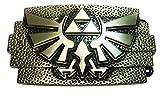 Legend of Zelda Tri-Force Crest Antique Brass Finish Belt Buckle
