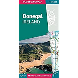 Donegal Ireland 2018: Xploreit County Map (Xploreit County Series)