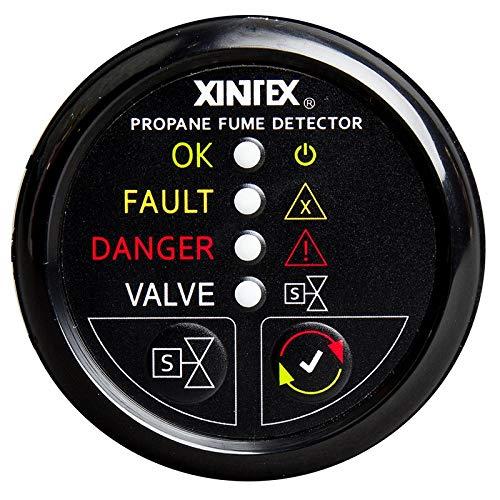 - Xintex Propane Fume Detector W/Automatic Shut-Off & Plastic Sensor - No Solenoid Valve - Black Bezel Display