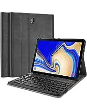 ProCase Etui na klawiaturę Samsung Galaxy Tab A 10,5 (SM-T590 / T595 / T597), smukłe, lekkie etui z magnetycznie odłączaną klawiaturą bezprzewodową, do Galaxy Tab A 10,5 (wydanie z 2018) - czarne