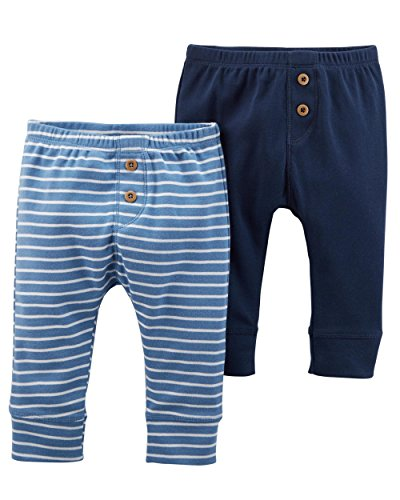 - Carter's Baby Boys' 2 Pack Pants, Navy/Blue Wide, 12 Months