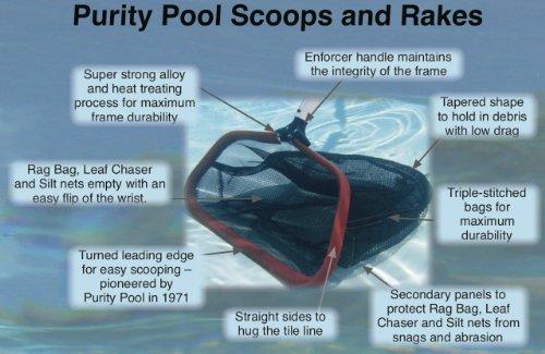 Purity Pool ULTD Ultra-Lite 18-Inch Lightweight Professional Leaf Rake, Tuff Duty Model Outdoor, Home, Garden, Supply, Maintenance