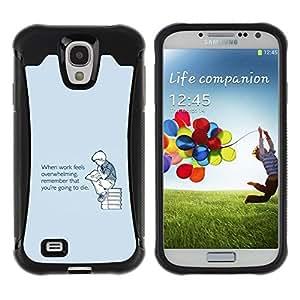 Suave TPU GEL Carcasa Funda Silicona Blando Estuche Caso de protección (para) Samsung Galaxy S4 IV I9500 / CECELL Phone case / / Overwhelming Death Quote Motivation /