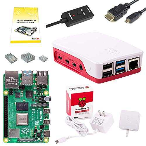 CanaKit Raspberry Pi 4 Basic Starter Kit with Official Case (4GB RAM)