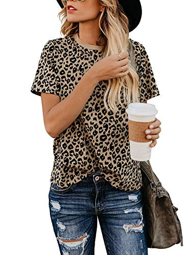 Yidarton Womens Leopard Sleeve Casual product image
