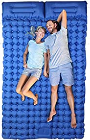 Ultralight Sleeping Pad with Pillow Foot Press Inflatable Camping Mattress Sleeping Pads for Hiking Backpackin